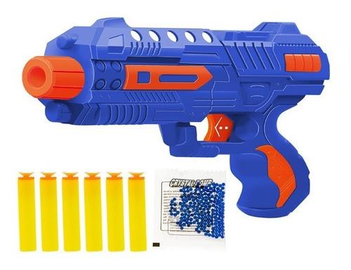 Arminha Lançador 2 Em 1 - Bolinha De Gel E Dados Dart - Azul