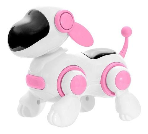 Cachorro Robô Com Face Digital E Estímulos Sensoriais - Rosa