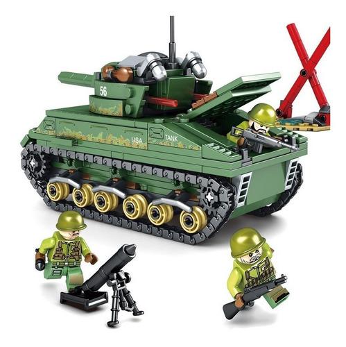 Bloco De Montar - Tanque De Guerra Com 437 Peças Linha S