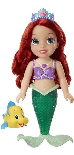Boneca Disney Princesa Ariel Sereia Musical Acende Calda
