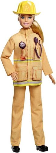 Boneca Barbie Profissões Bombeira C Capecete Ediçao Especial