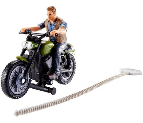 Boneco Jurassic World Perseguição Jurássica Owen E Moto