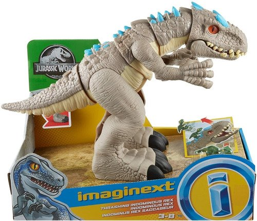 Boneco Imaginext Jurassic World Indominus Dinossauro Rex