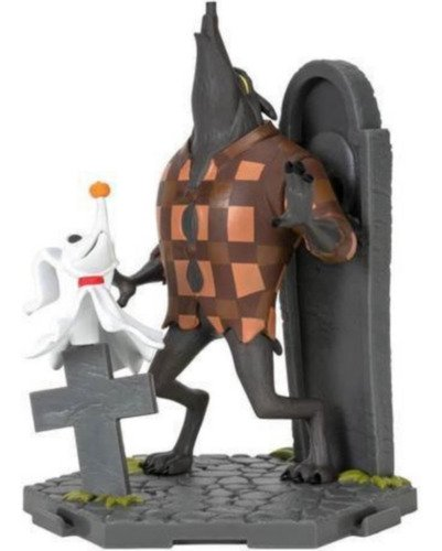 Boneca Estranho Mundo De Jack - Zero E Wolfman Com Cenario
