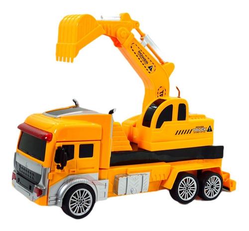 Caminhão Caçamba De Controle Remoto 2 Em 1 Transformers Robo