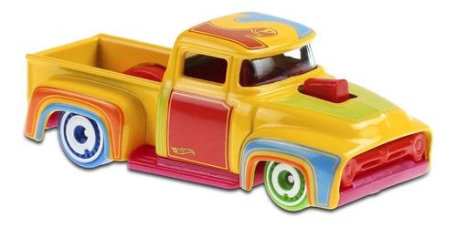 Carrinho Hot Wheels -custom '56 Ford Truck - T-hunt Colorido