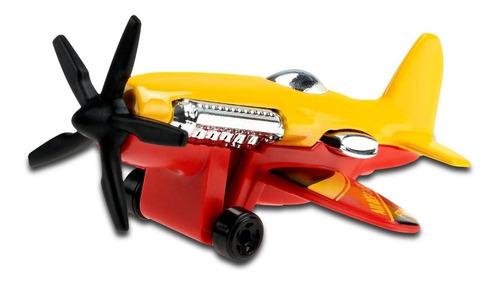 Carrinho Hot Wheels - ' Avião Mad Propz - Ghc63 Amarelo