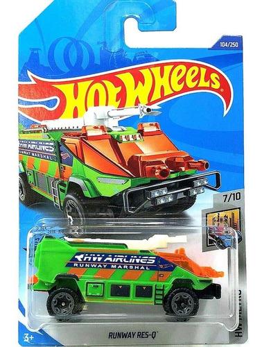 Carrinho Hot Wheels - Runway Res-q - Camião Verde
