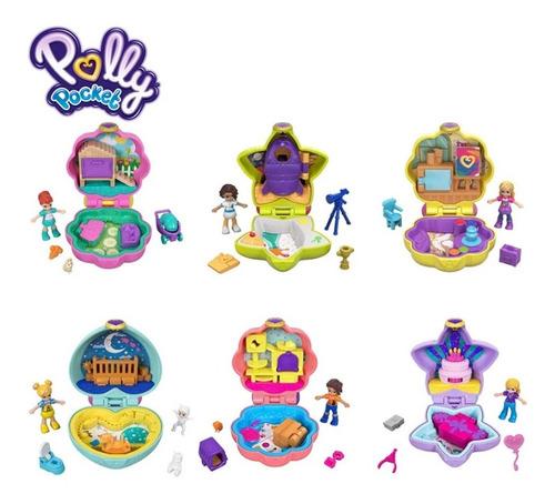 Playset E Mini Boneca Mini Polly Pocket Estojo Sortidos