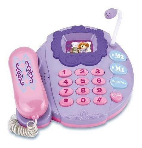 Telefone Musical Infantil Disney Princesa Sofia C Luz Roxo