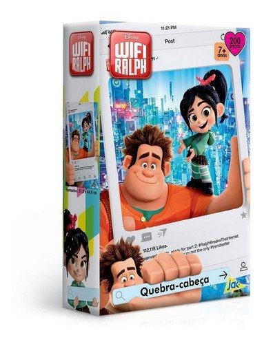 Quebra Cabeça Wifi - Ralph -100 Peças Toyster