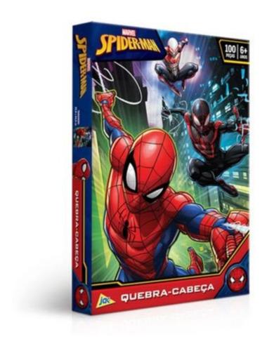 Quebra Cabeça Homem Aranha -100 Peças Toyster