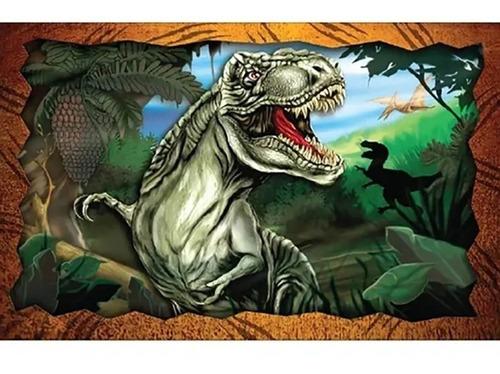 Jogo Quebra Cabeça Infantil Dino T-rex Dinossauro 150 Pçs