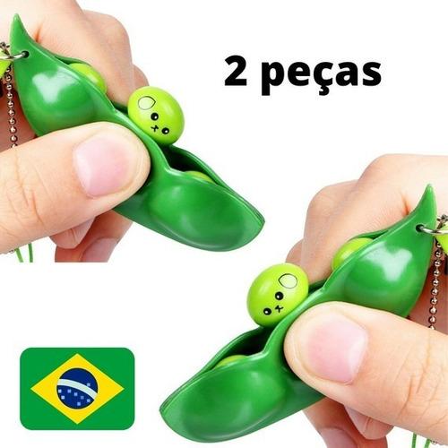Kit 2 Peças Anti Stress Chaveiro Ervilhas Fidget Toy Pop It