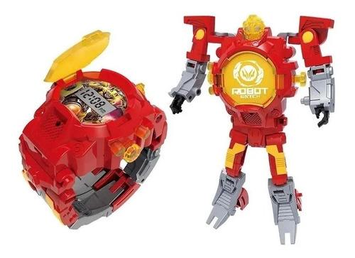 Robot Watch - Relógio Digital Robô (multikids) - Vermelho