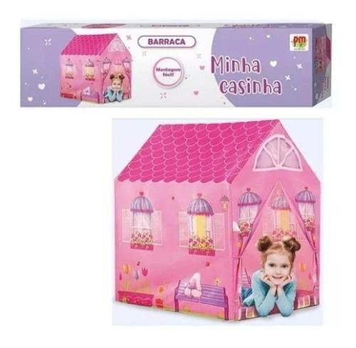 Barraca Minha Casinha Tenda Toca Cabana Infantil + Led Fada