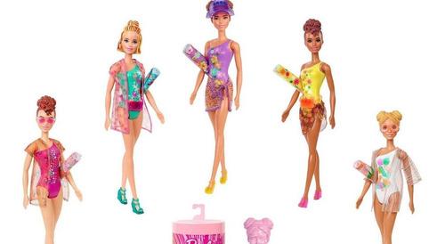 Boneca Barbie Color Reveal Edição Praia Lançamento 2021 Rosa