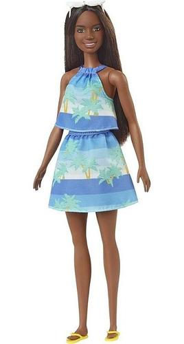 Boneca Barbie Morena Negra Ecológica Love The Ocean