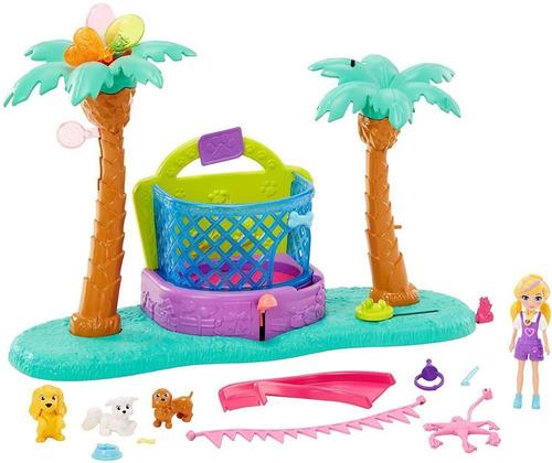 Boneca Polly Pocket Parque De Diversão Tematico Dos Animais