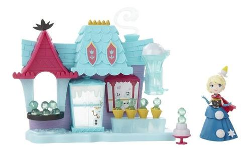 Boneca Frozen Mini Playset Cenario Castelo Mágico Elsa