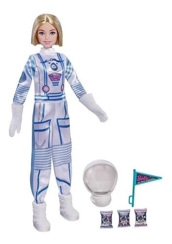 Boneca Barbie Profissões - Astronauta - De Luxo Com Capacete