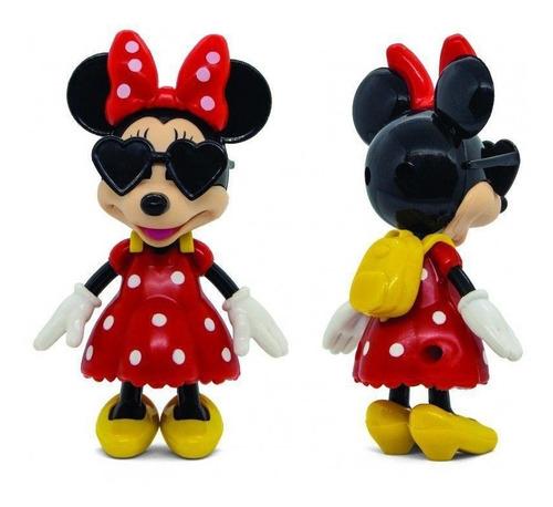 Boneca Disney Junior Minnie Flexível - Com Óculos Mochila