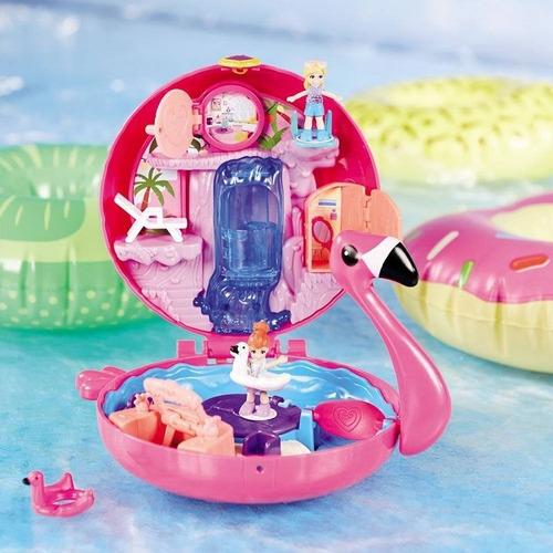 Polly Pocket Mini Mundo De Aventura - Piscina Do Flamingo