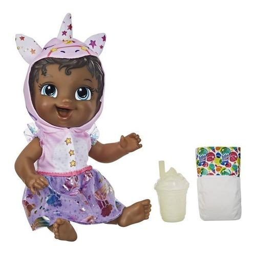 Boneca Baby Alive Tinycorn Fantasia De Unicórnio Negra