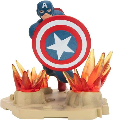 Boneco De Ação Marvel Avengers Capitão America De Luxo 13 Cm