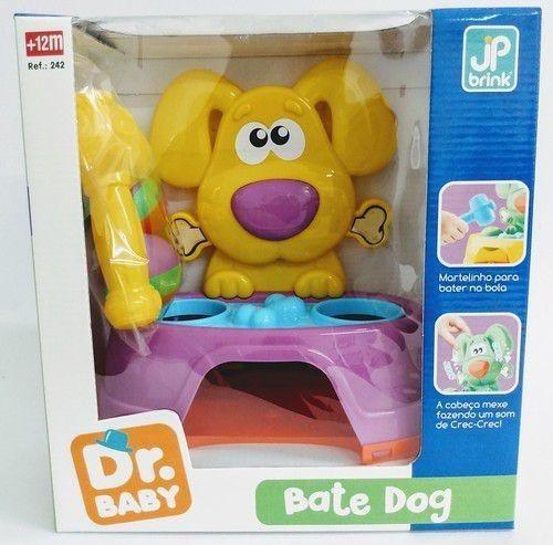 Brinquedo Bate Dog Didático Infantil 26cm - Amarelo