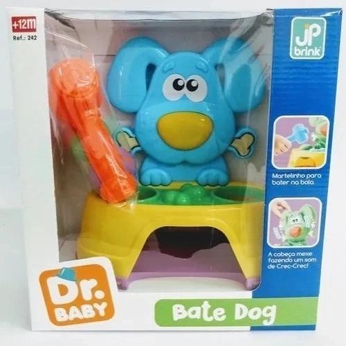 Brinquedo Bate Dog Didático Infantil 26cm - Azul