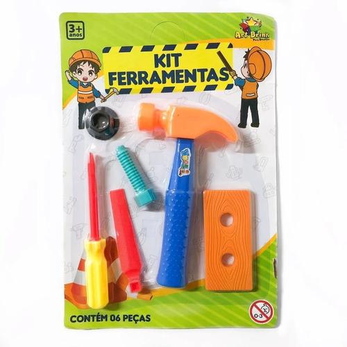 Kit Ferramentas Infantil De Brinquedo C/ 6 Peças Martelo