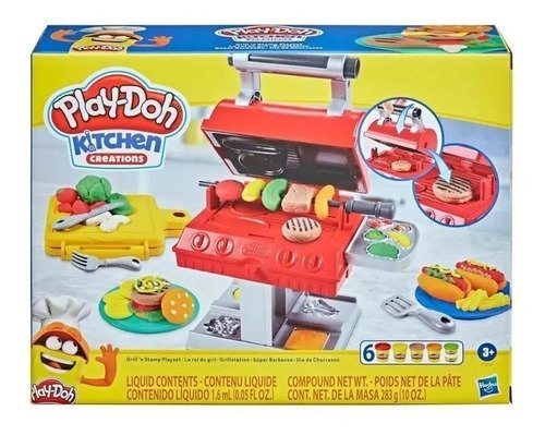 Massinha Play Doh Kitchen Creations Dia De Churrasco Hasbro