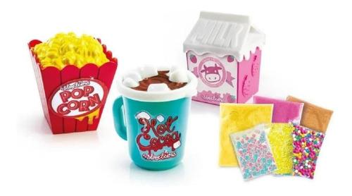 Kit Slime Diy Slime Shakers Pipoca E Milk Leite Edição Fofa