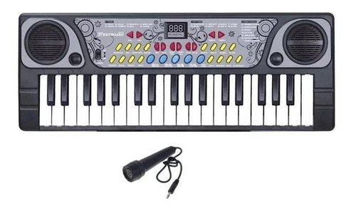 Teclado Infantil Com Microfone 37 Teclas - C 06 Musicas