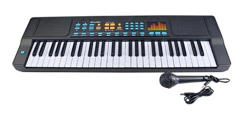 Teclado Musical Infantil Iniciantes 54 Teclas Com Microfone