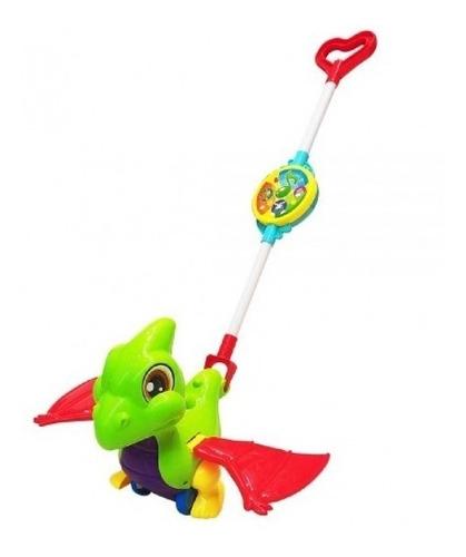 Carrinho De Empurrar Dinossauro Baby Com Som E Luz E Musical