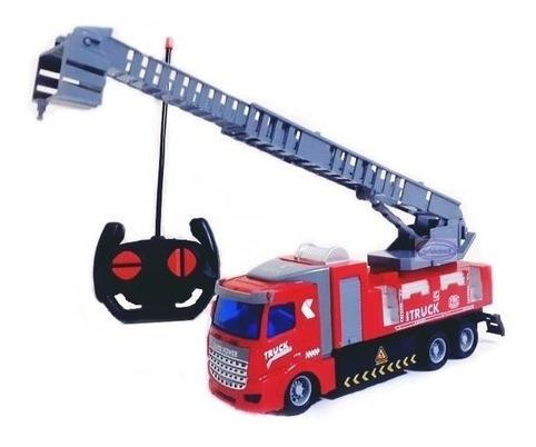 Carrinho De Controle Remoto Caminhão De Bombeiro Com Escada