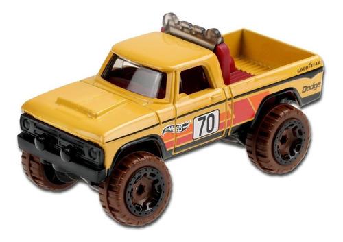 Carrinho Hot Wheels - '70 Dodge Power Wagon Picape 4x4 - Amarelo
