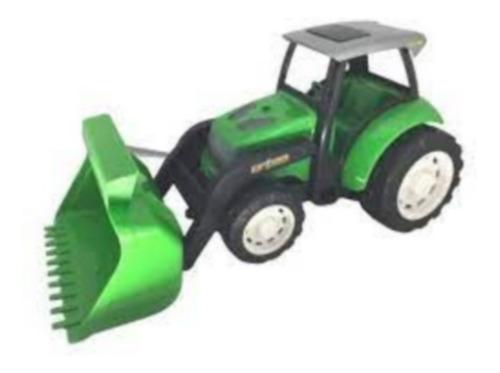 Trator Caminhão De Briquedo Grande 40x20 Cm - Verde