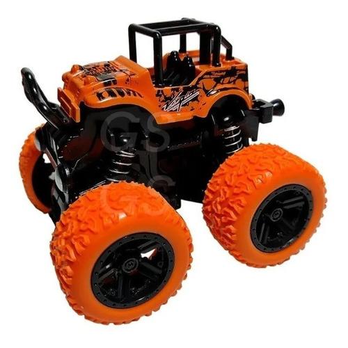 Carrinho Big Foot Monster Mini Truck Pick 4x4 Fricção - Laranja