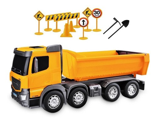 Caminhão Basculante De Contrução Com Kit De Sinalização