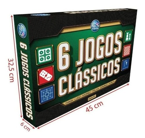Jogos Clássicos 6 Em 1, Pais E Filhos, Dama, Xadrez, 2759