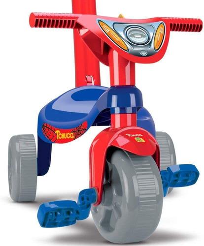 Triciclo Infantil Velotrol Herois Homem Super Teia Vermelho
