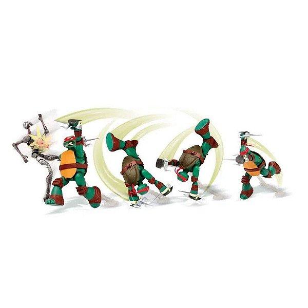 Boneco Tartaruga Ninja Action 15cm - Multikids