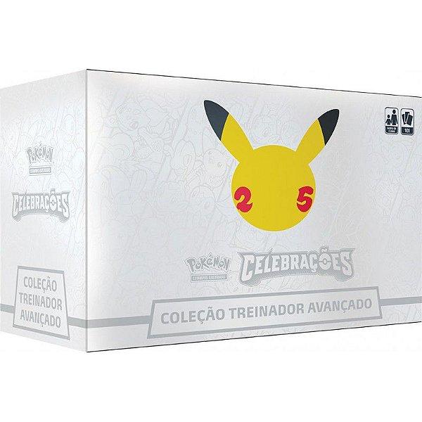 Jogo Carta Box Treinador Avançado Pokémon Celebrações Copag