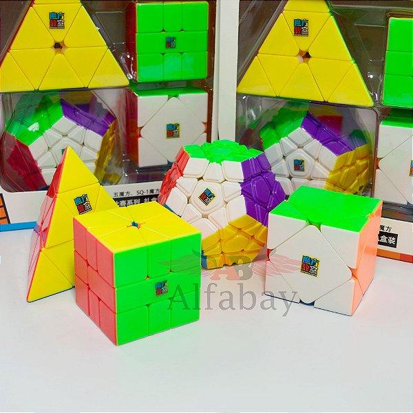Box Moyu MoFangJiaoShi Pyraminx + Skewb + Megaminx + Square -1