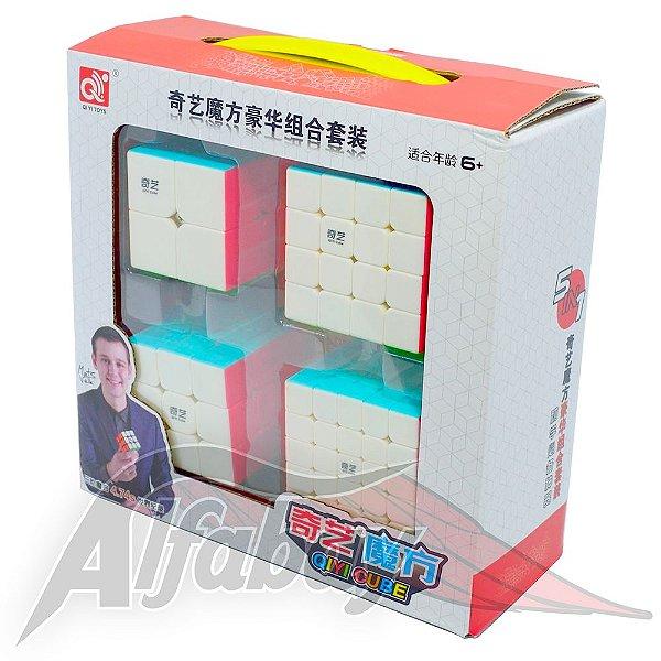 Box QiYi 2x2x2 + 3x3x3 + 4x4x4 + 5x5x5 Luxe Stickerless