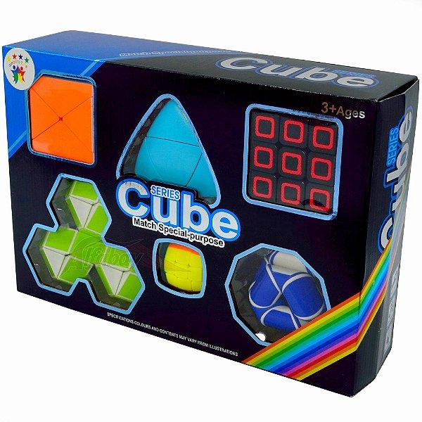 Box FanXin 3x3x3 + Fisher Skewb + 2x2x2 Mastermorphix + Snake Tangram Puzzle + Chaveiro