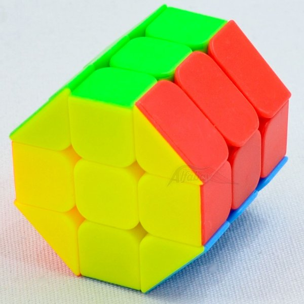 JieHui 3x3x3 Fisher Cilíndrico Redondo Stickerless